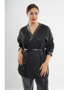 Veste kimono avec laine...