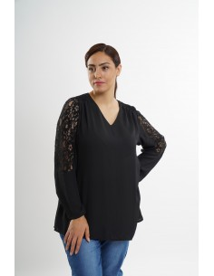 Blouse unie  grande taille...