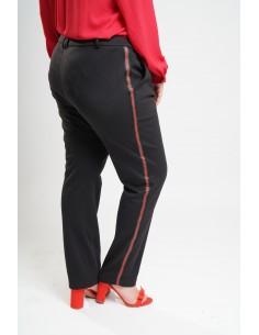 Pantalon noir à liseré...